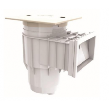 Emaux Standard Wall Skimmer (Square Cover) Concrete Pool, White